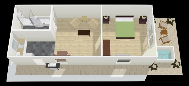 Beach Break Lodge - North Shore Suite in 3D